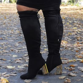 Overknee Stiefel in großen Größen