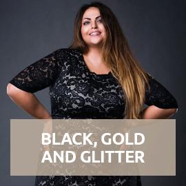 Black Gold and Glitter in großen Größen