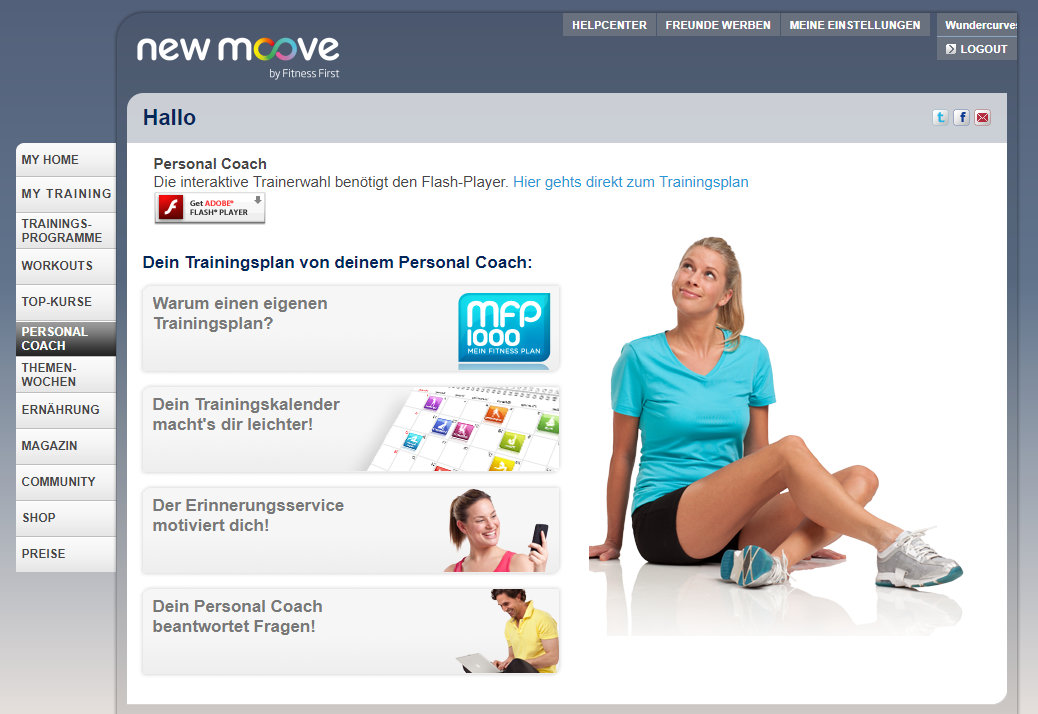 new moove Personal Coach