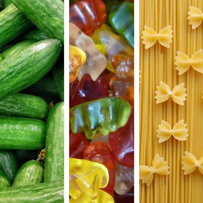 Gurken, Gummibärchen und Pasta
