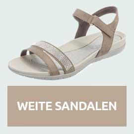 Weite Sandalen Sommertrends große Größen