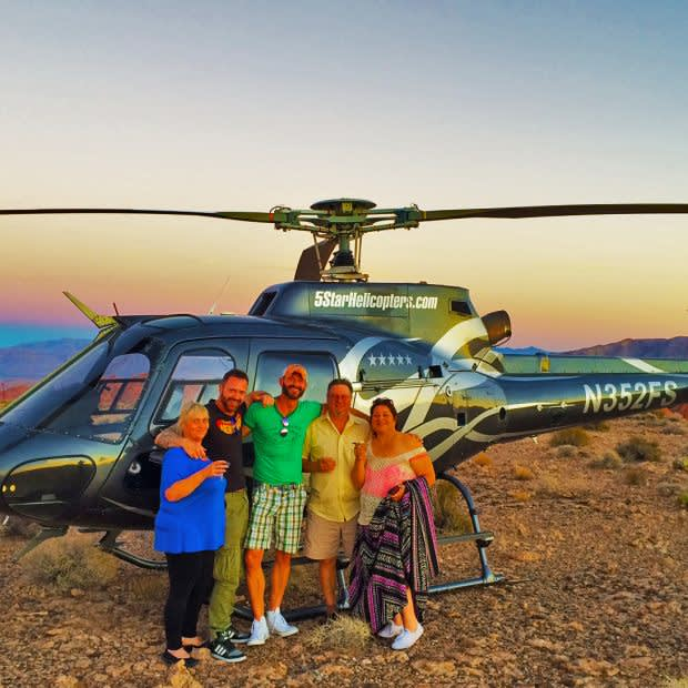 grand canyon and valley of fire champagne landing
