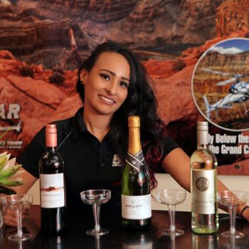 5Star Helicopter Tours wine room experience