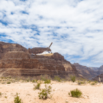 grand canyon helicopter floor landing picnic flight departing Grand Canyon