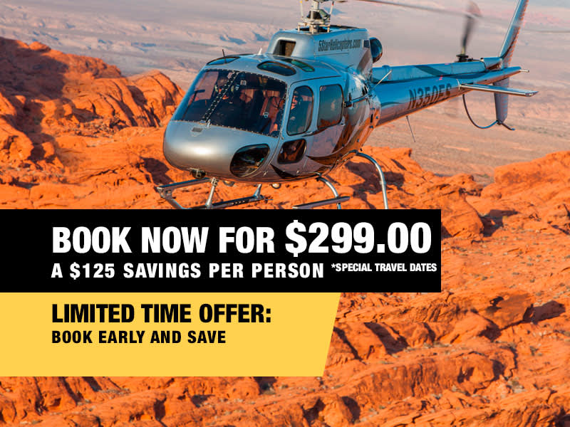 Extended Grand Canyon Helicopter Air Tour Book now from $299.00