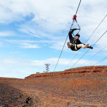 GRAND CANYON WEST RIM HOTEL CABIN STAY HUALAPAI RANCH ZIPLINE