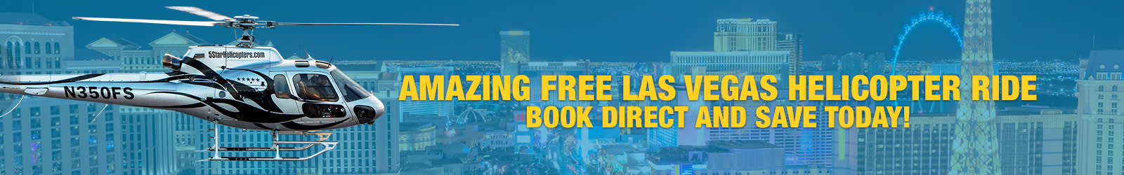 FREE LAS VEGAS STRIP HELICOPTER RIDE