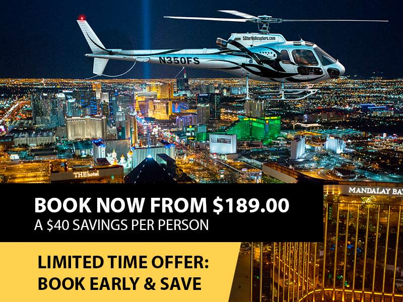 Las Vegas Night Strip Helicopter & Dining Package