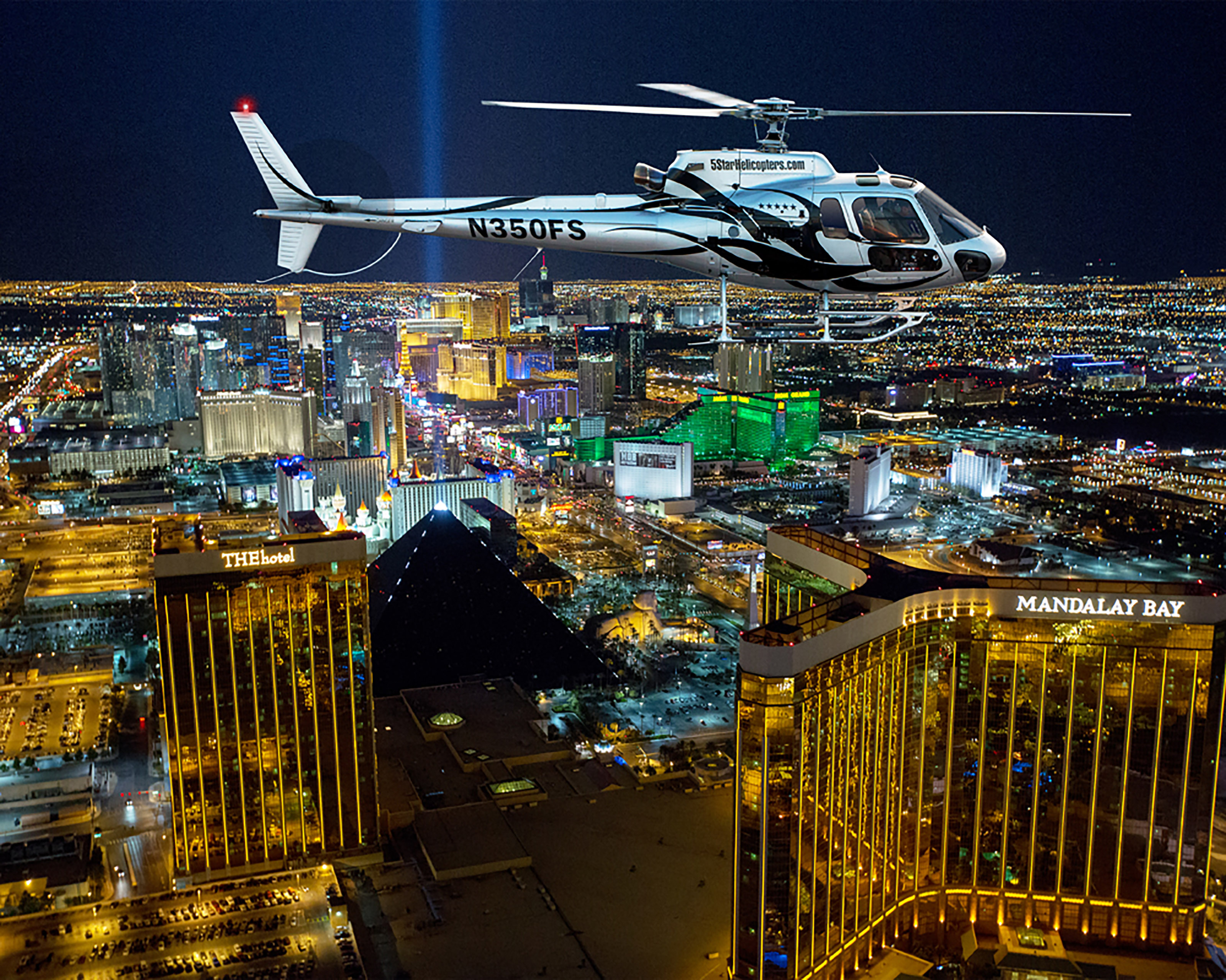 Las Vegas Helicopter Night Strip Flight