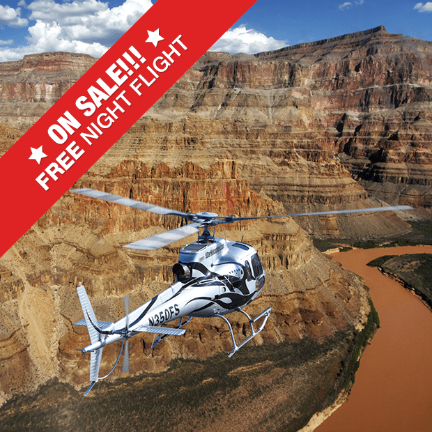 discount grand canyon helicopter tour including free night strip helicopter flight