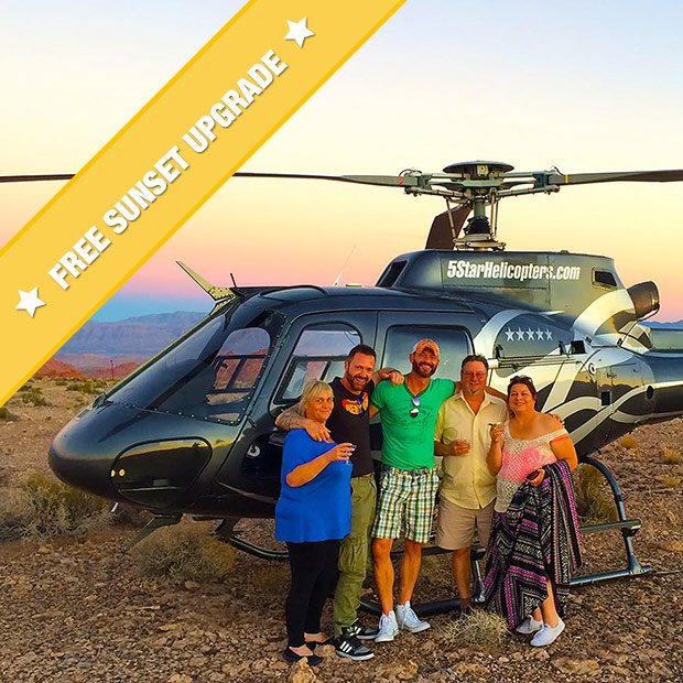 Grand Canyon Helicopter and Valley of Fire Champagne Landing Flight