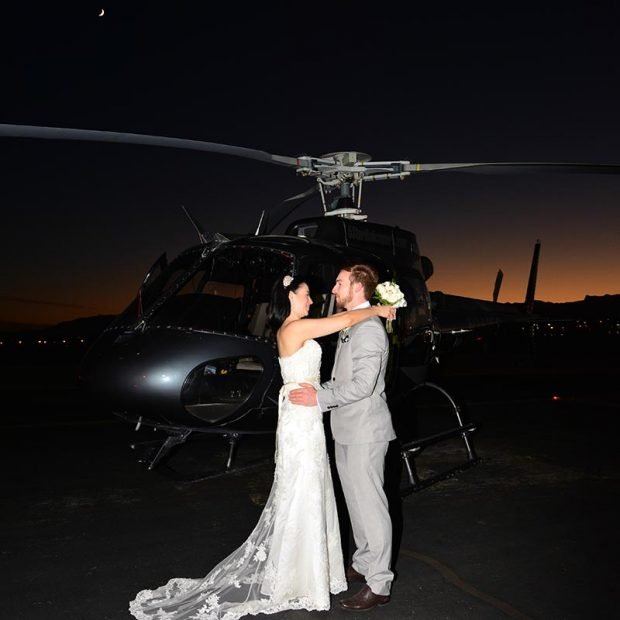LAS VEGAS NIGHT STRIP HELICOPTER WEDDING CEREMONY EXPERIENCE