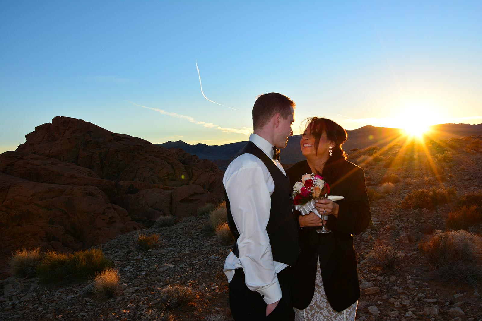 grand canyon and valley of fire helicopter wedding ceremony package