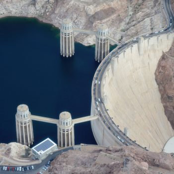 hoover dam by helicoper