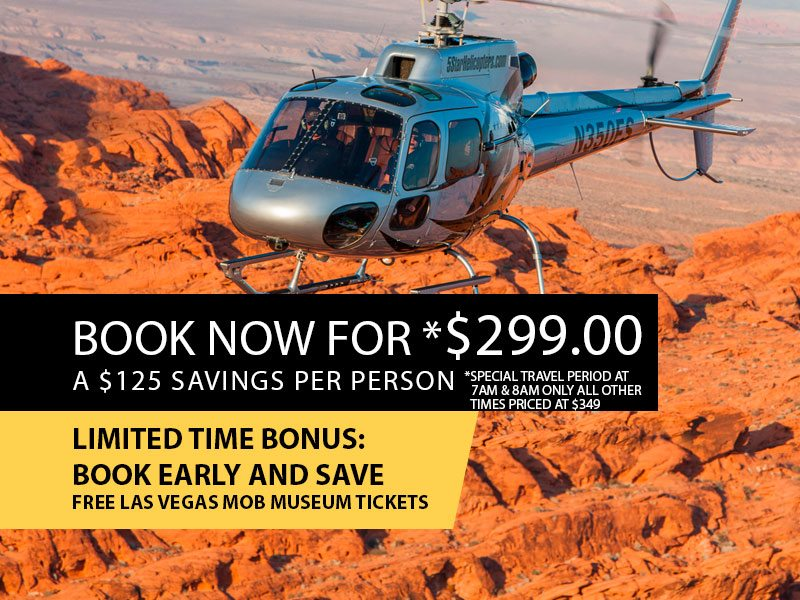 Extended Grand Canyon Helicopter Air Tour Retail Package Value $399.00 Book now from $299.00