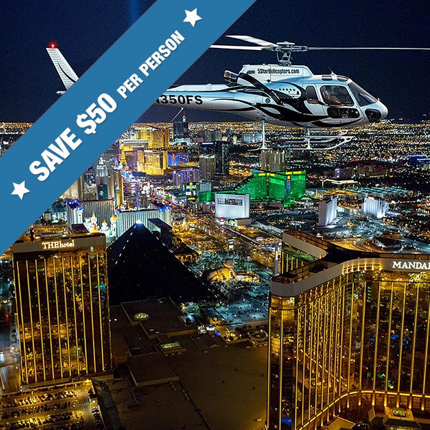 last minute super save las vegas night strip helicopter tour