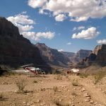 grand canyon floor landing helicopter tour picnic site