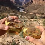 grand canyon floor landing helicopter tours with champagne picnic toast