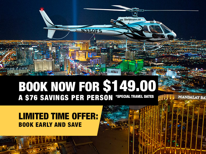 Las Vegas Night Strip Helicopter & Dining Package Value $225.00