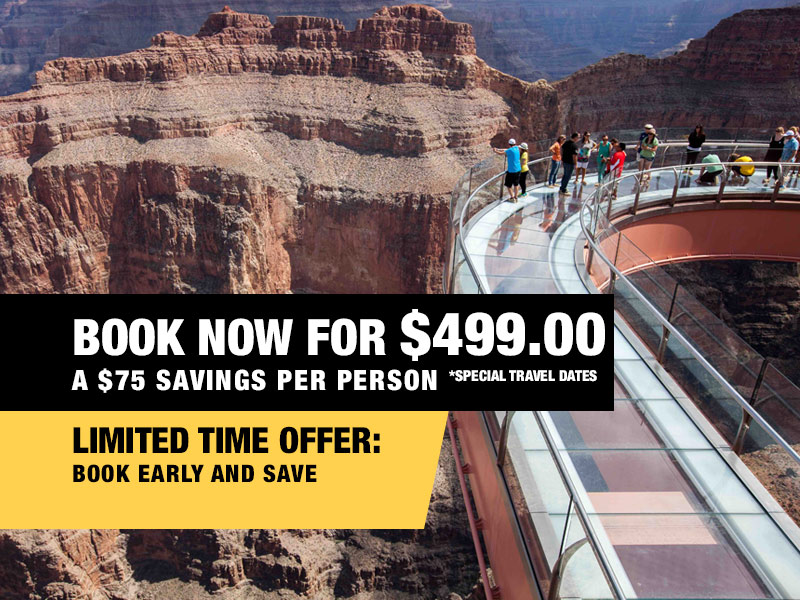 VIP Skywalk Express Retail Package Value $549.00 - Book Now From $449.00