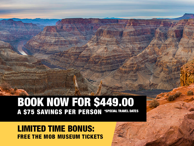 Grand Canyon Helicopter Adventure Landing Tour Retail Package Value $499.00 Book now from $449.00