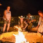 GRAND CANYON WEST RIM HOTEL CABIN STAY HUALAPAI RANCH CAMPFIRE