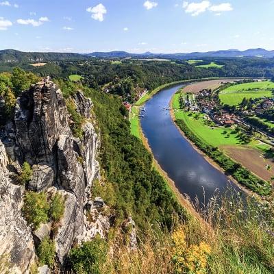 Dresden til Praha p� el-sykkel