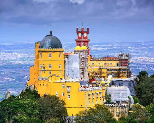 Sintra & Pena Palace, Cabo da Roca og Cascais (F, L)