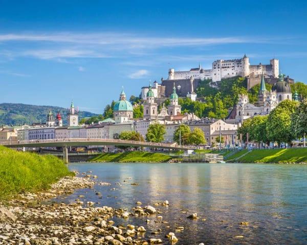 Utflukt til Salzburg og Hellbrunn Schloss (F, M)