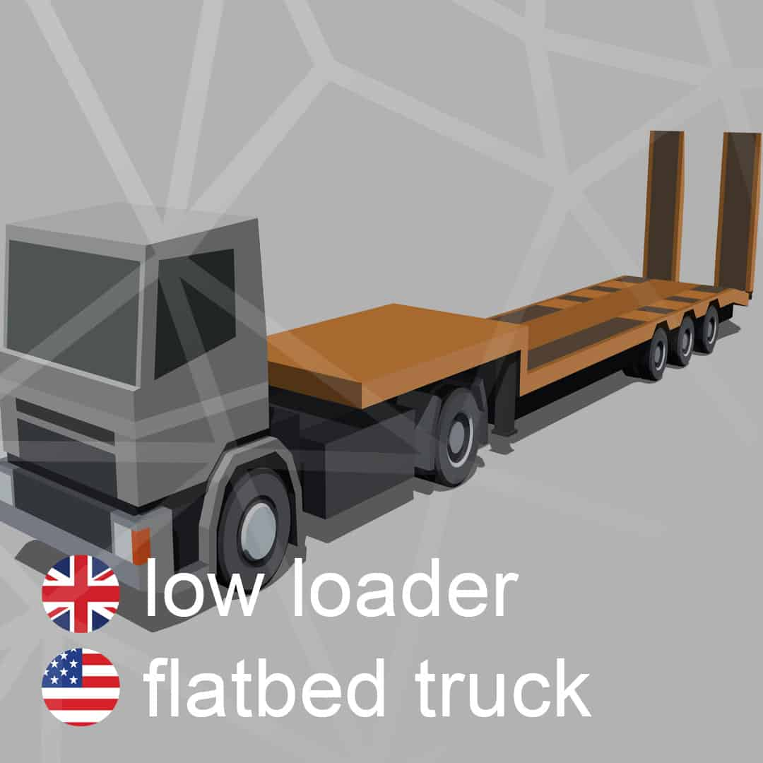 low-loader - flatbed-truck - podvalnik