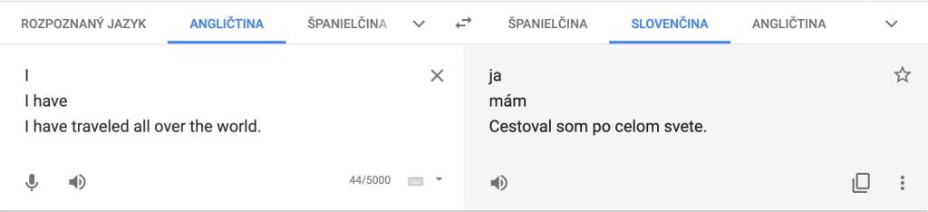 Problém s prekladmi predprítomného času