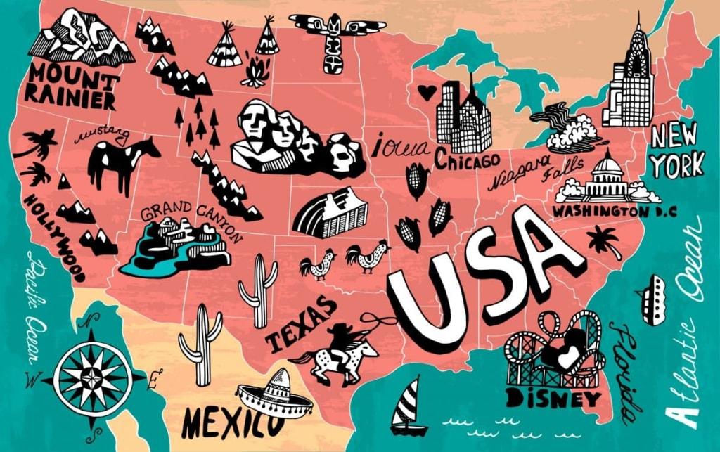 americké priezviská mapa usa