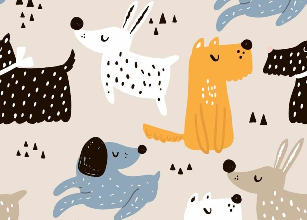 ilustrácia psy