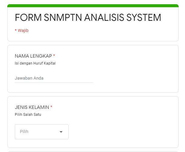 SNMPTN Analisis System v3 Program Pengarahan Jurusan Prodi
