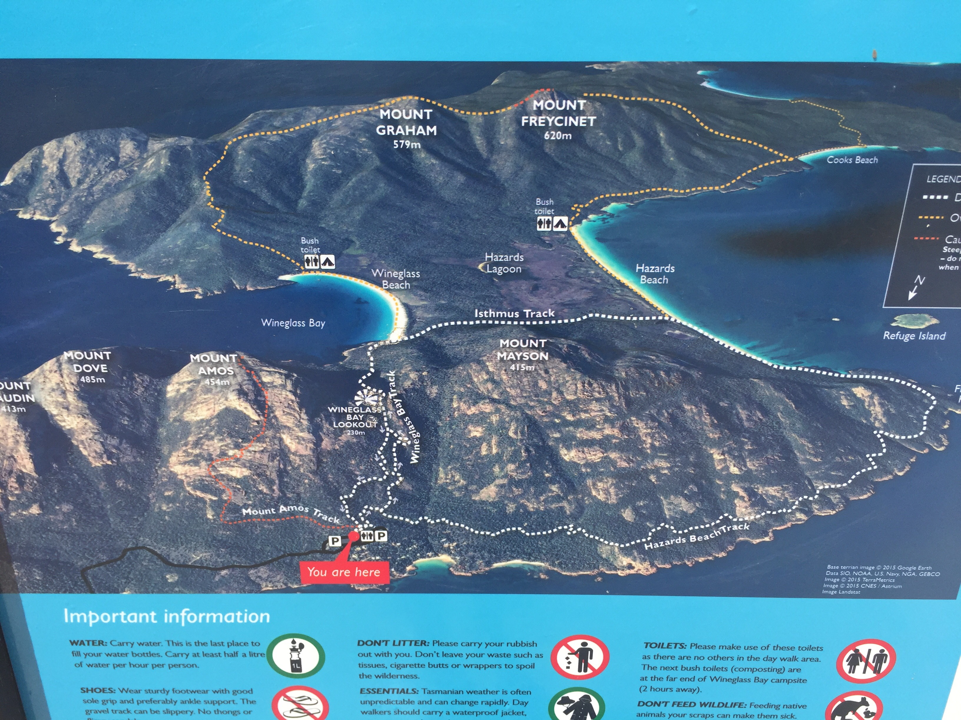 Wineglass Bay Lookout Trail map