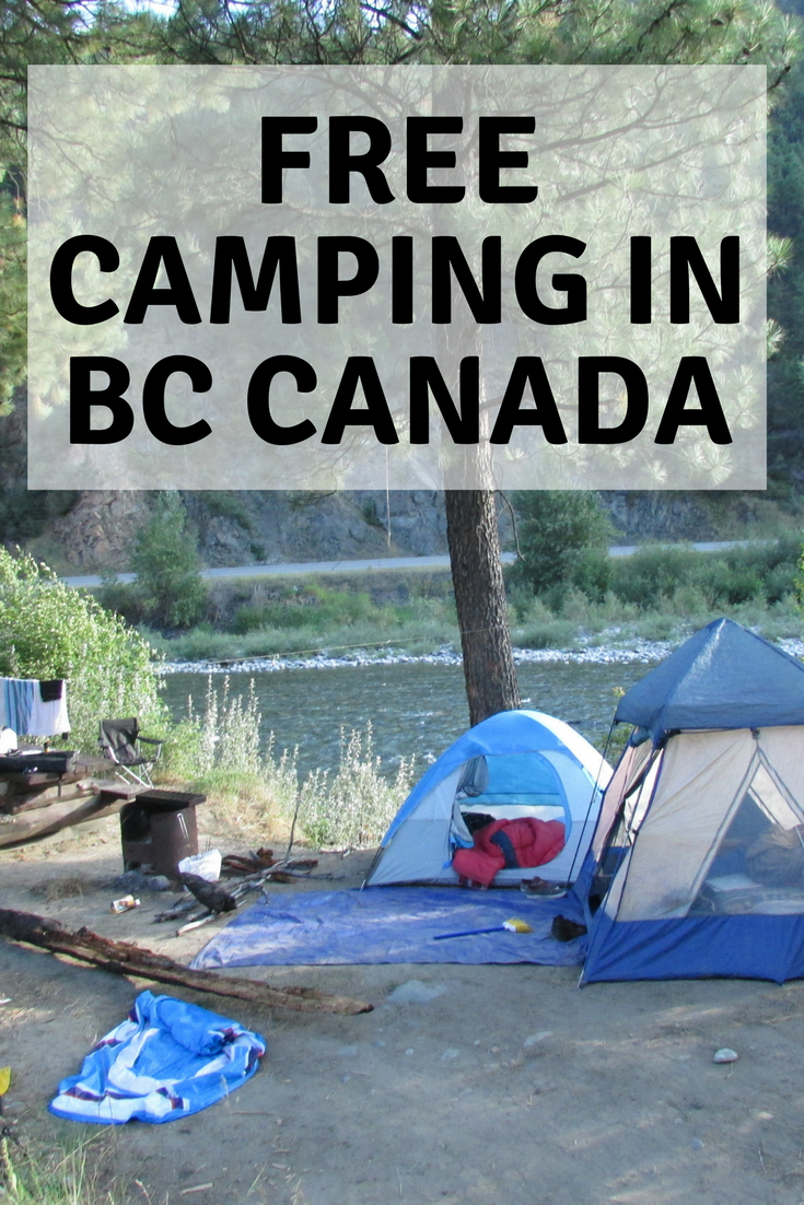 Free camping in BC Canada