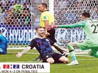 Croatia Beat Russia 4-3 in a Penalty Shoot-Out After a Dramatic 2-2 Draw