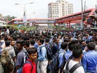 Airport Road Crash: Street Protests Stall Dhaka Traffic