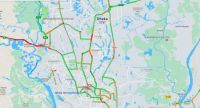 Google map shows the state of street in Dhaka