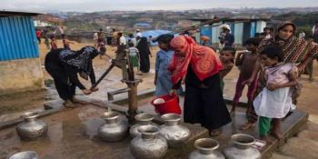 Severe Pollution At Rohingya Camps Water