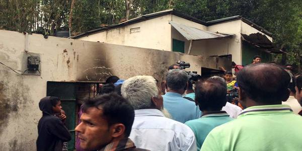Five people were killed in a fire originated from a gas line blast following a lightning strike in Golapganj Upazila in Sylhet early today.