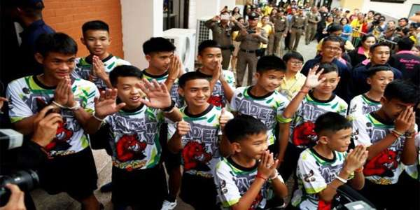 """Fight on, don't despair"": Thai cave rescue boys relive 'Moment of Miracle'"
