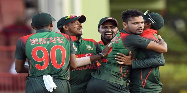 A record partnership by Tamim Iqbal and Shakib Al Hasan has fired Bangladesh to a convincing 48-run victory over West Indies in the first ODI. Mashrafe Bin Mortaza, Bangladesh's inspirational captain, led the charge with the ball in hand, bagging four wickets for 37 runs from 10 overs.