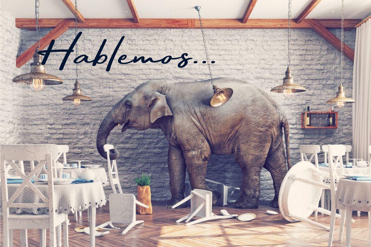 Hablemos. (Del Elefante en el Restaurante).