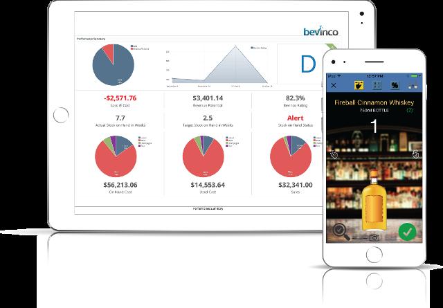 Foto de una iPad con la consola SaaS de Sculpture y un iPhone con la app móvil para la toma de inventarios.