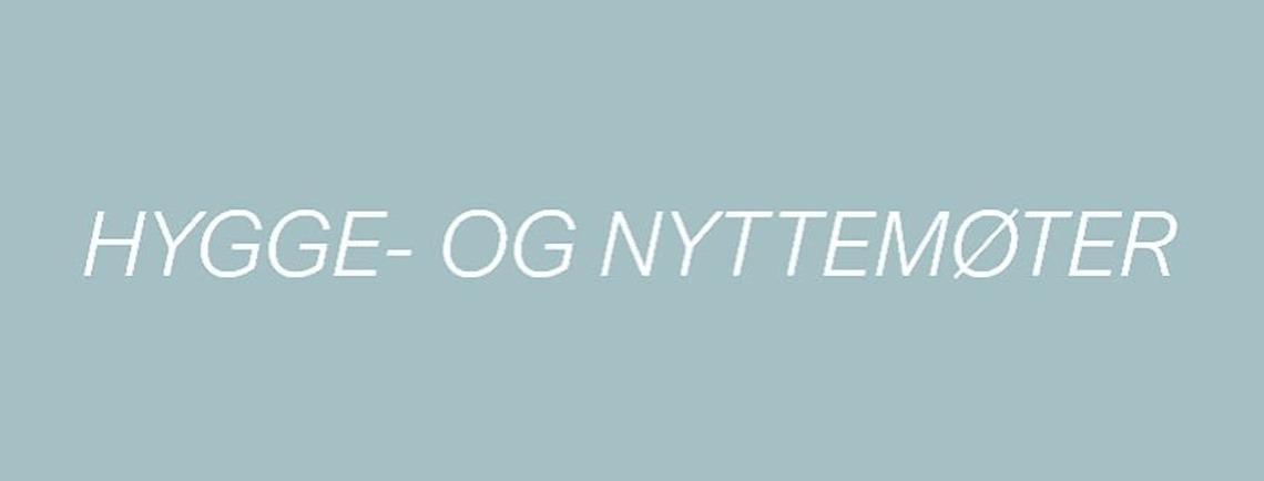 Hygge-/nyttemøter høst 2019