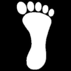 Folie føtter 13 x 24 cm
