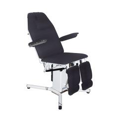 Clinic Pasientstol med 2 motorer og hull - Grå på lager!
