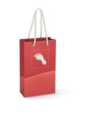 Gavepose papir m/fot, Rød