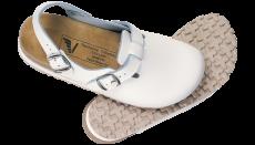 Sandal hel tå og hælrem hvit